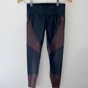 Koral Black Maroon Sleek Leggings